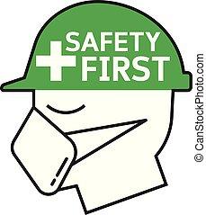 bezpieczeństwo, symbol, pierwszy