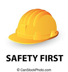 bezpieczeństwo, twardy kapelusz, żółty