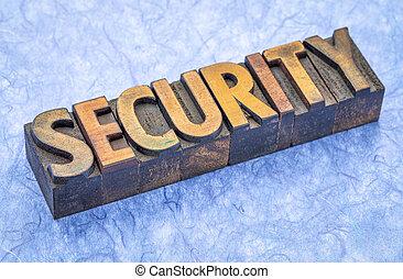 bezpieczeństwo, typ, drewno, słowo