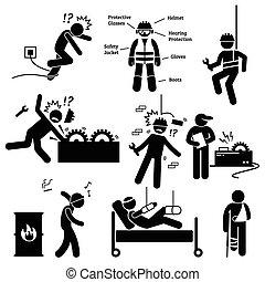 bezpieczeństwo, zawodowy, praca, zdrowie