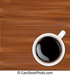 biała kawa, filiżanka