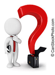 biały, 3d, pytanie, handlowy zaludniają