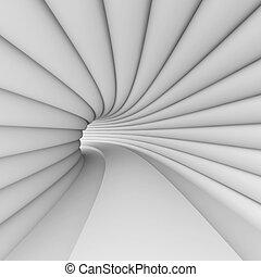 biały, architektura, futurystyczny