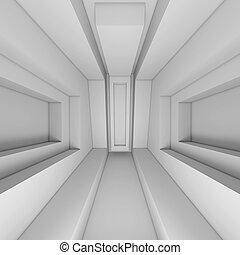 biały, architektura, tło, 3d