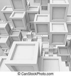biały, architektura, tło