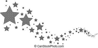 biały, czarnoskóry, gwiazdy