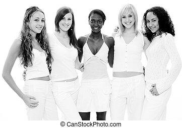 biały, dziewczyny