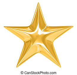 biały, gwiazda, złoty, tło