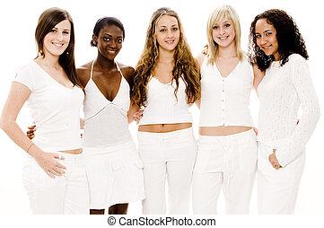 biały, kobiety