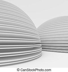 biały, nowoczesny, projektować, architektura
