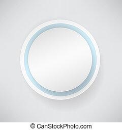 biały, papier, bańka, okrągły
