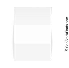 biały, papier karta, czysty