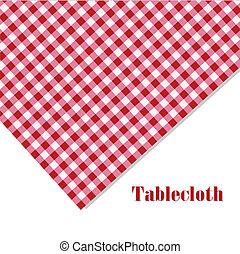 biały, piknik, tablecloth, czerwony