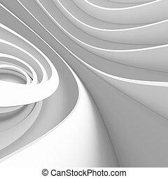 biały, projektować, architektura