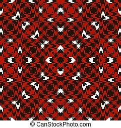 biały, seamless, psy gończy strzępią, pattern., backg, czerwony czarnoskóry, houndstooth