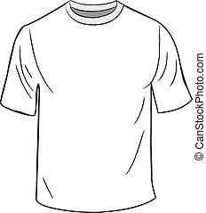 biały, szablon, projektować, t-shirt