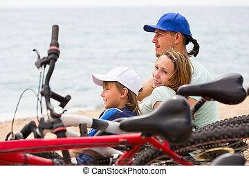 bicycles, rodzice, syn