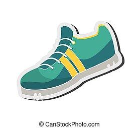 bieg obuwie, ikona