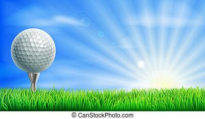 bieg, piłka, golfowy trójnik