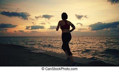 biegacz, atleta, wybrzeże, wyścigi