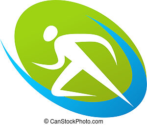 biegacz, logo, /, ikona