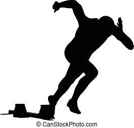 biegacz, sprint, początek, mężczyźni