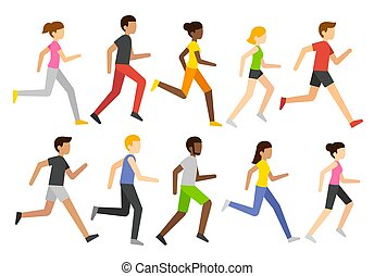 biegacze, rysunek, litery