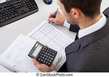 bilansista, pracujące biuro