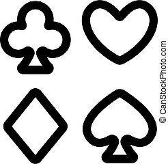 bilety, ikona, kontur, garnitur, symbol, odizolowany, vector., ilustracja