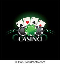 bilety, pogrzebacz, wiór kasyna, element