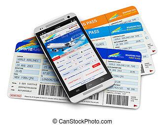 bilety, powietrze, kupno online