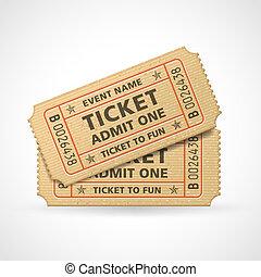 bilety, wektor, kino