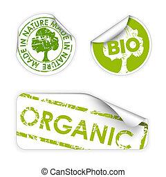 bio, komplet, organiczny, eco, etykiety, /