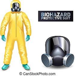 biohazard, ochronny garnitur