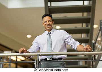 biuro, wiek, nowoczesny, pracownik, średni, zbiorowy