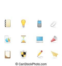 biurowe ikony, &, handlowy