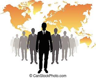 biznesmen, światowa mapa