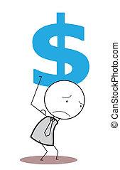 biznesmen, dolar