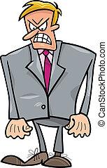 biznesmen, gniewny