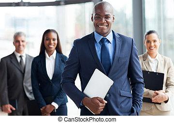 biznesmen, grupa, businesspeople, afrykanin