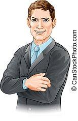 biznesmen, ilustracja