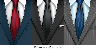 biznesmen, komplet, garnitur