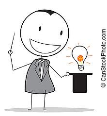 biznesmen, magik, idea