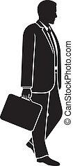 biznesmen, pieszy briefcase