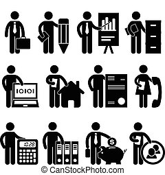 biznesmen, programista, praca, prawnik