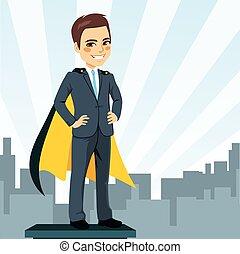 biznesmen, wspaniały bohater