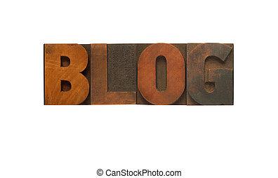 blog, drewno, typ