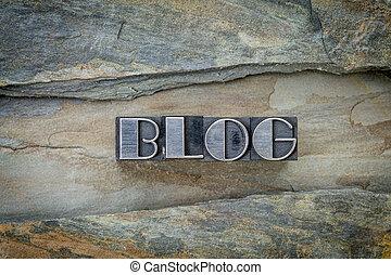 blog, typ, metal, słowo