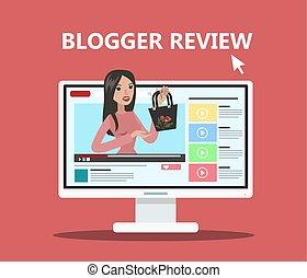 blogger, kobieta, review.