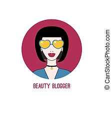 blogger, piękno, ikona